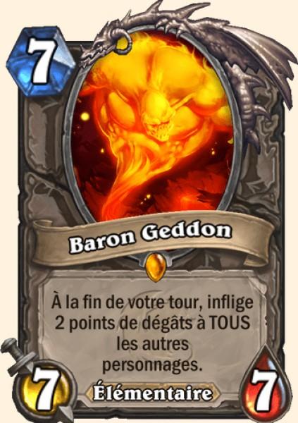 Baron Geddon carte Hearthstone