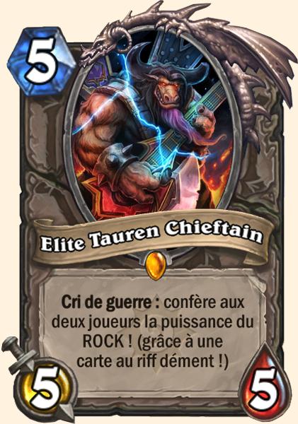 Elite Tauren Chieftain carte Hearthstone