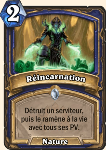 Réincarnation carte Hearthstone