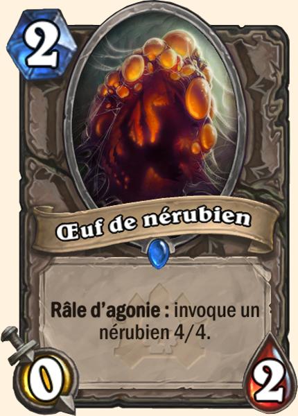 Oeuf de Nerubien - Carte Naxxramas Hearthstone