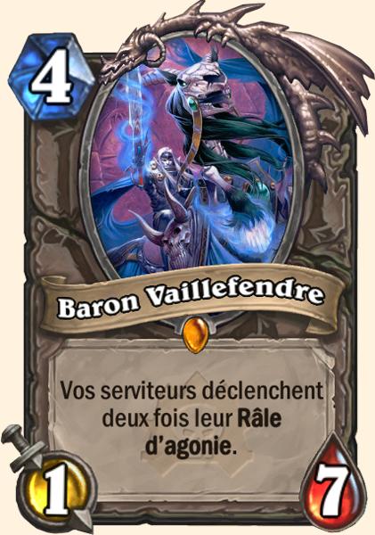 Baron Vaillefendre carte Hearthstone