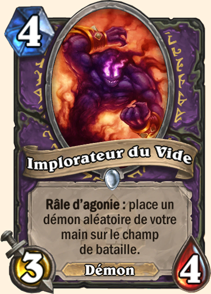 Carte Démoniste Hearthstone - Implorateur du Vide - Malédiction de Naxxramas