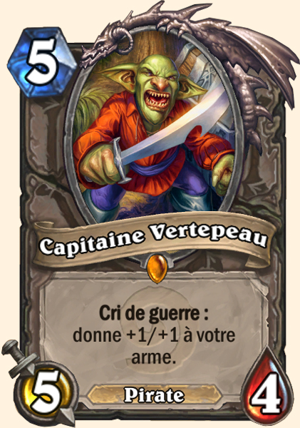 Capitaine Vertepeau carte Hearthstone