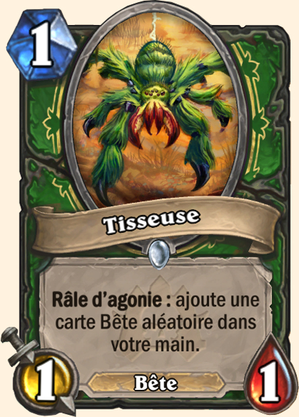 Tisseuse  - Carte Naxxramas Hearthstone