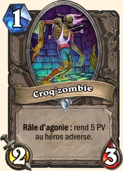 Croq'zombie carte Hearthstone