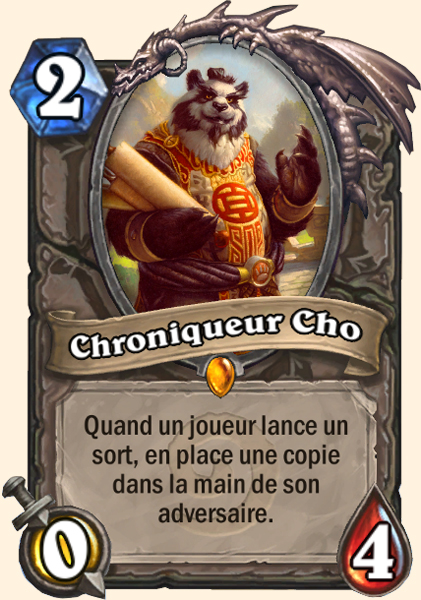 Chroniqueur Cho carte Hearthstone