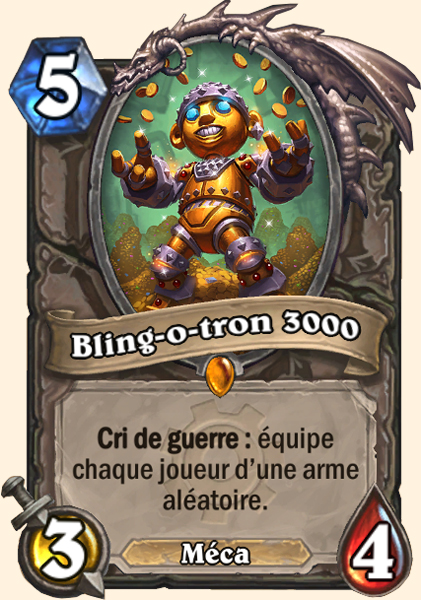 Bling-o-tron 3000 carte Hearthstone