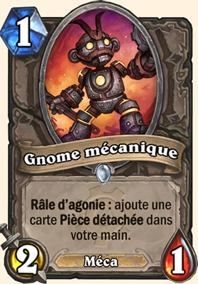 Gnome mécanique carte Hearthstone