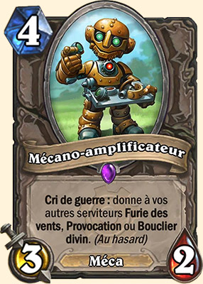 Mécano-amplificateur carte Hearthstone