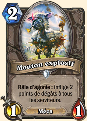 Mouton explosif carte Hearthstone