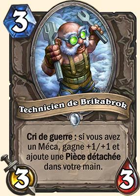 Technicien de Brikabrok carte Hearthstone