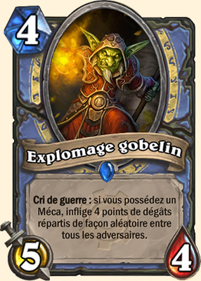 Explomage gobelin carte Hearthstone