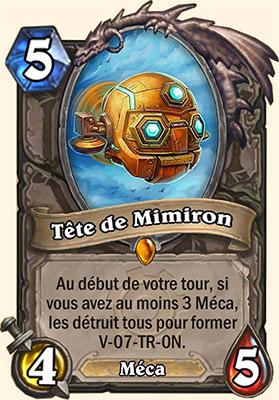 Tête de Mimiron carte Hearthstone