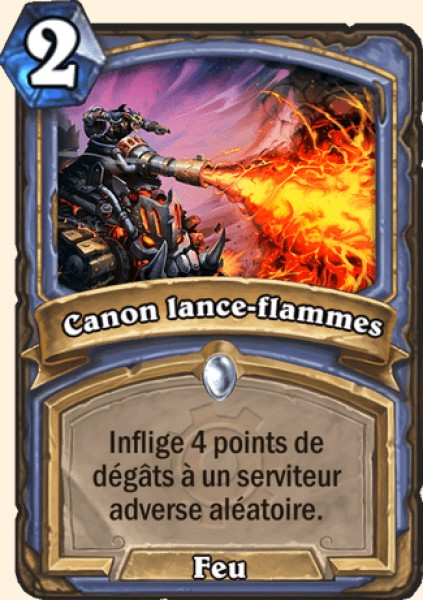 Canon lance-flammes carte Hearthstone