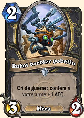 Robot barbier gobelin carte Hearthstone