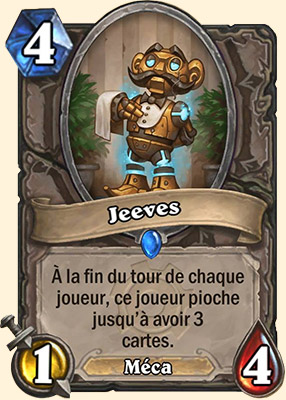Jeeves carte Hearthstone