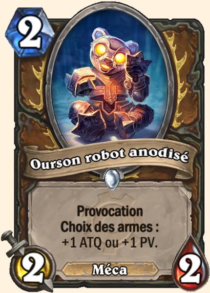 Ourson robot anodisé carte Hearthstone