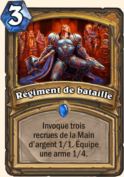 Régiment de bataille carte Hearthstone