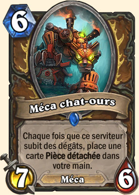 Méca chat-ours carte Hearthstone