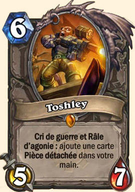 Toshley carte Hearthstone