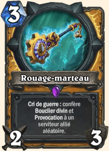 Rouage-marteau carte Hearthstone