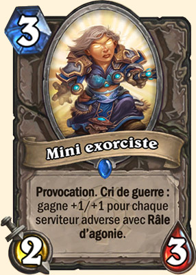 Mini exorciste carte Hearthstone
