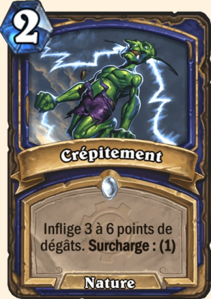 Crépitement carte Hearthstone