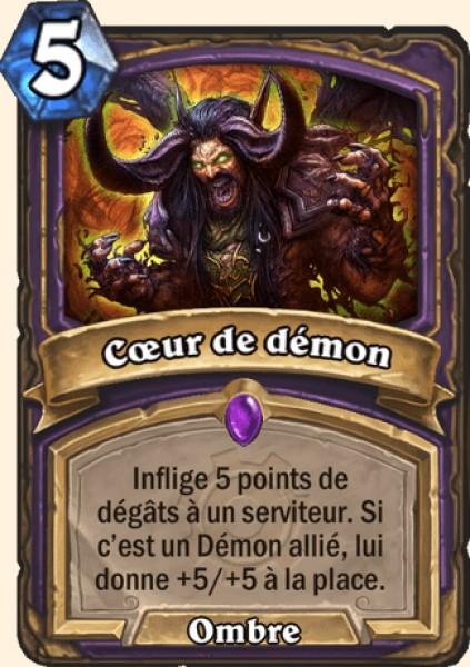 Coeur de démon carte Hearthstone