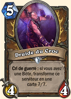 Druide du Croc carte Hearthstone