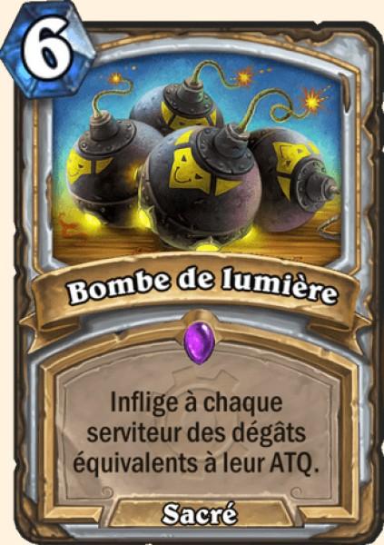 Bombe de lumière carte Hearthstone