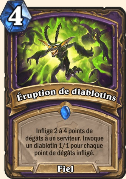 Éruption de diablotins carte Hearthstone