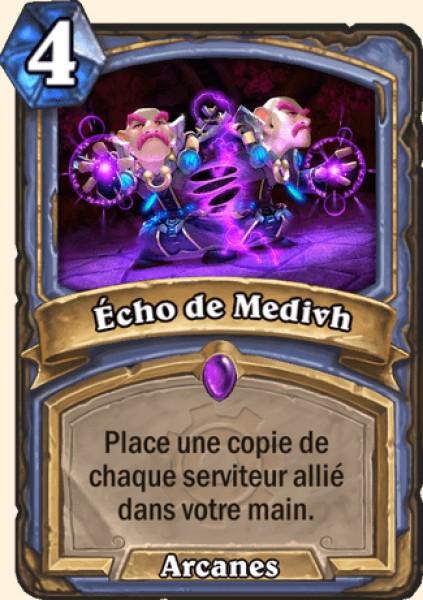 Écho de Medivh carte Hearthstone