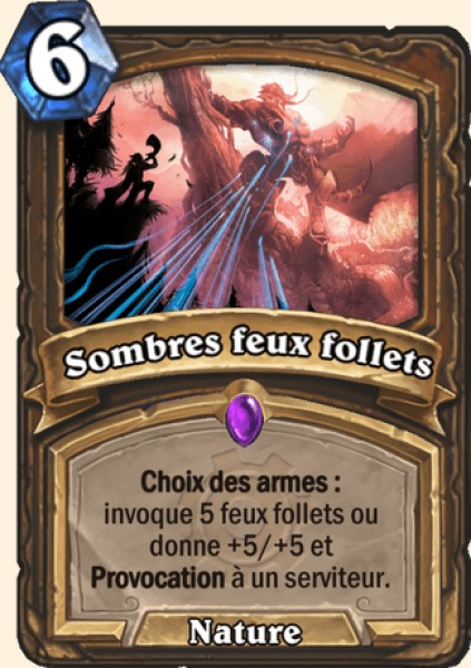 Sombres feux follets carte Hearthstone