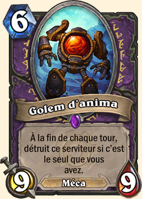 Golem d'anima carte Hearthstone