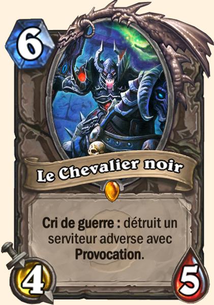 Le Chevalier noir carte Hearthstone