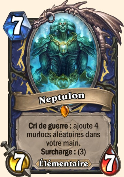 Neptulon carte Hearthstone
