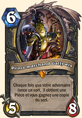 Prince marchand Gallywix carte Hearthstone