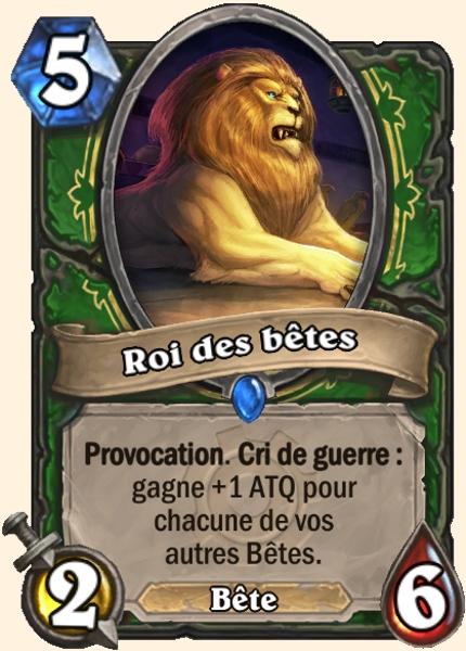 Roi des bêtes carte Hearthstone