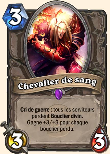 Chevalier de sang carte Hearthstone