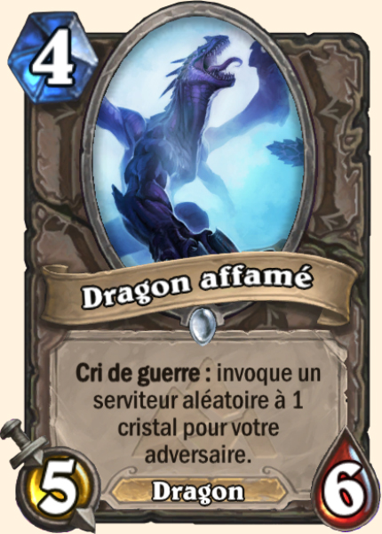 Dragon affamé- Carte Mont Rochenoire Hearthstone