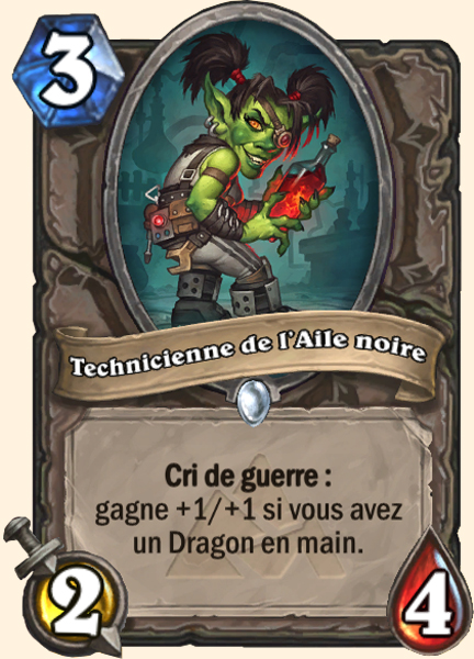 Technicienne de l'aile noire carte Hearthstone'