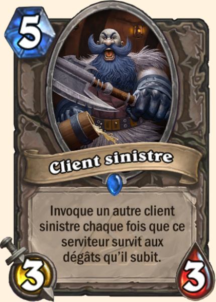 Client sinistre - Carte Mont Rochenoire Hearthstone