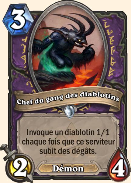 Chef du gang des diablotins - Carte Mont Rochenoire Hearthstone