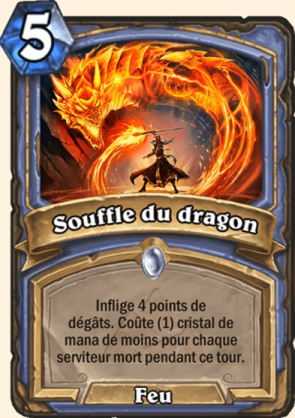Souffle du dragon carte Hearthstone