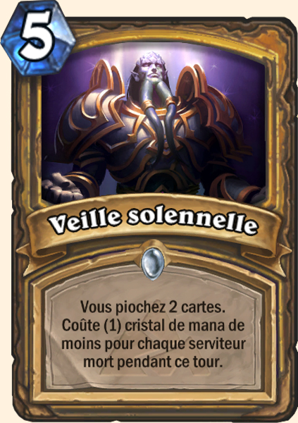Veille solennelle carte Hearthstone