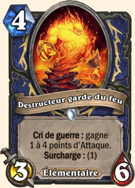Destructeur garde du feu - Carte Mont Rochenoire Hearthstone