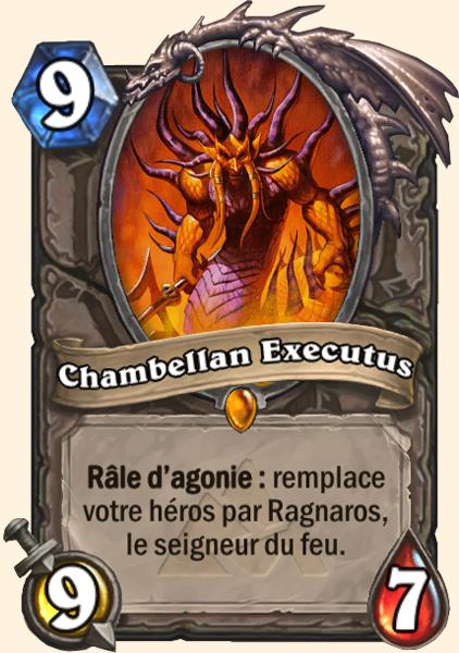 Chambellan Executus - Carte Mont Rochenoire Hearthstone