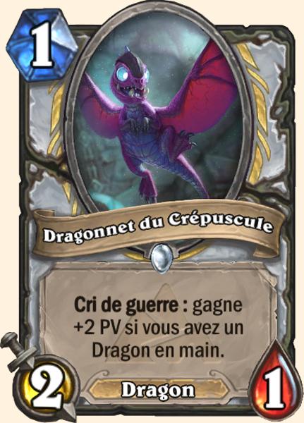 Dragonnet du crépuscule - Carte Mont Rochenoire Hearthstone