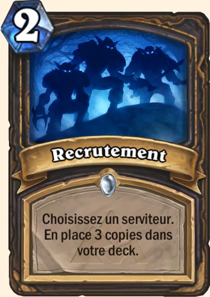 Recrutement - Carte Mont Rochenoire Hearthstone