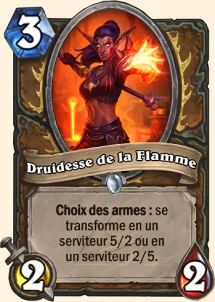 Druide de la flamme carte Hearthstone